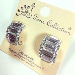 Crystal Baguette Earrings